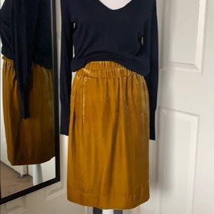 ⬇️REDUCED!!  J.Crew velvet pull on skirt